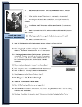 American Experience - Last Days in Vietnam video worksheet