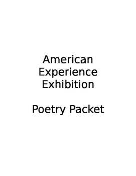 American Experience Poetry Packet