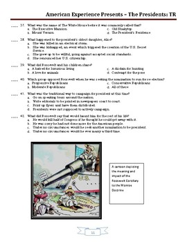 American Experience Theodore Roosevelt: Part 2 Worksheet and Puzzles
