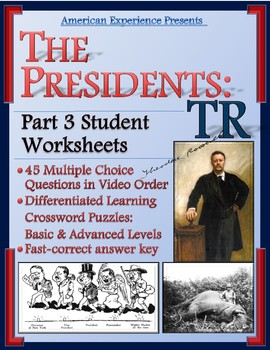 American Experience Theodore Roosevelt: Part 3 Worksheet and Puzzles