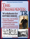 American Experience Theodore Roosevelt Worksheets & Puzzles for Entire Series
