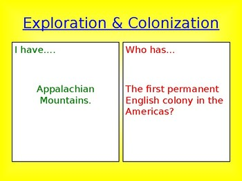 American Exploration & Colonization Looping Cards