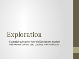American Exploration PowerPoint
