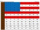 American Flag 100s Hundreds Chart Mystery Picture