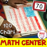 American Flag Hundreds Chart Mystery Picture Math Center President's Day