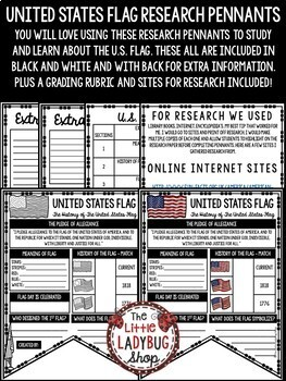 American Flag Activity & US History Research  • Teach- Go Pennants™
