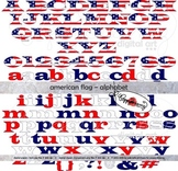 American Flag Alphabet and Numbers Clipart by Poppydreamz