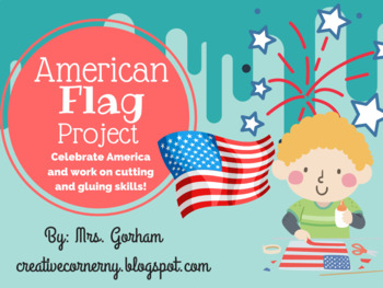 American Flag Art Project-Flag Day, Memorial Day, July 4th, Veteran's Day