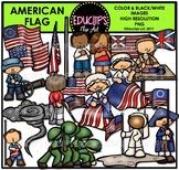 American Flag Clip Art Bundle {Educlips Clipart}