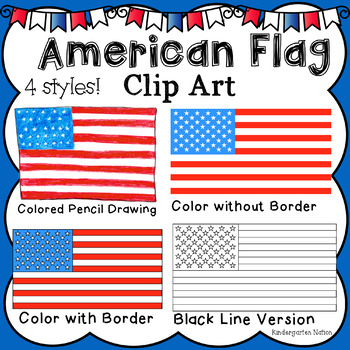 American Flag Clip Art Image ~ PNG with Transparent Background