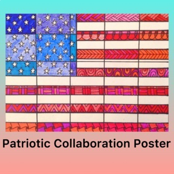 Veterans Day Activity- American Flag Collaboration Coloring Poster