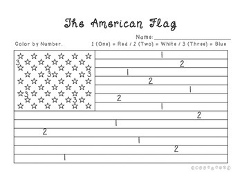 american flag color by number by giggleland teachers pay teachers