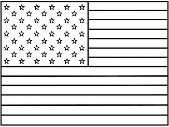 American Flag Coloring Page by Fresh in First Grade TpT