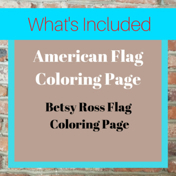 American Flag Coloring Page
