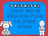 American Flag Coloring Sheet