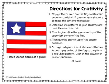 American Flag Craftivity