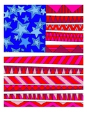 American Flag DESIGN Coloring Page