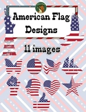 American Flag Designs Clip Art