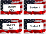 American Flag Editable Labels