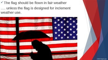 American Flag Etiquette (Patriotic, Veterans Day, 4th of July, Memorial Day) PPT
