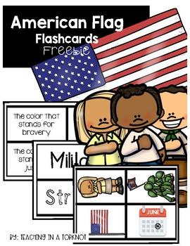 American Flag Flashcards FREEBIE