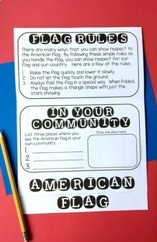 American Flag Flip Book FREEBIE