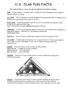 American Flag Fun Facts