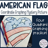 USA American Flag Heart Coordinate Graphing Picture