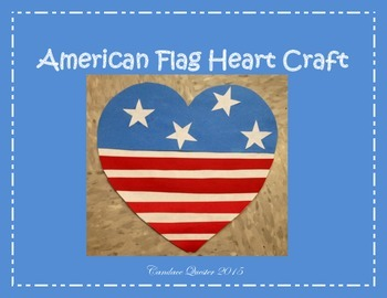 American Flag Heart Craft
