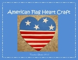 American Flag Heart Craft