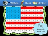 American Flag Hundreds Chart Fun - Watch, Think, Color Mys