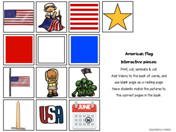 American Flag Interactive/Adapted Book