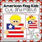 American Flag Kids Craft   American Symbols Activity   Patriotic Holidays