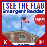American Flag Kindergarten | US Flag Emergent Reader FREE
