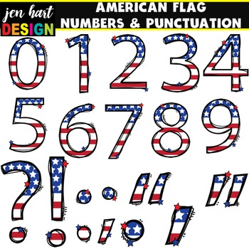 American Flag Numbers and Punctuation