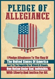 American Flag Pledge of Allegiance Poster Back to School Poster
