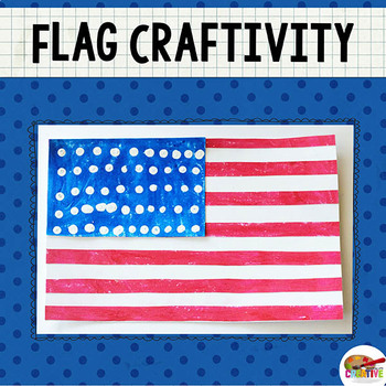 photo about Printable American Flag named American Flag Printable Craft Template