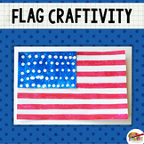 American Flag Printable Craft Template