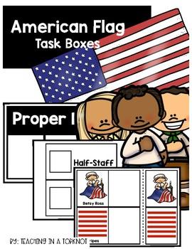 American Flag Task Boxes