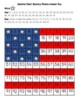 American Flag (United States of America, USA) Hundred Chart Mystery Picture