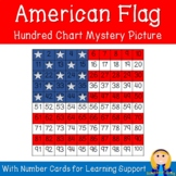 American Flag (USA) Hundred Chart Mystery Picture with Num