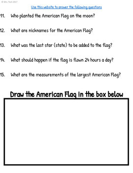 American Flag Webquest