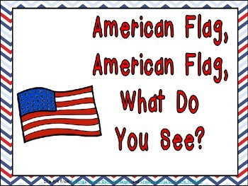 American Flag, What Do You See Shared Reading Kindergarten Veterans Day