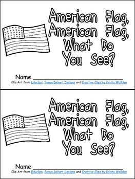 American Flag, What Do You See Veteran's Day Emergent Reader Kindergarten