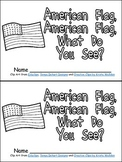 American Flag, What Do You See Veteran's Day Emergent Reader Kindergarten