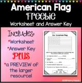 American Flag Worksheet FREEBIE