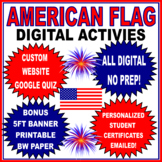 American Flag Writing Activities DIGITAL- NO PREP DISTANCE