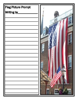 American Flag Writing Picture Prompts: Washington D.C.