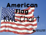 American Flag Writing Template KWL Chart  Graphic Organizer
