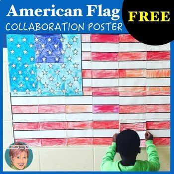 American Flag Collaboration Poster Great for Veterans Day